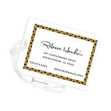 Dotted Edge Gold & Black ID Tag
