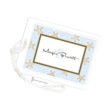 Starfish Light Blue ID Tag