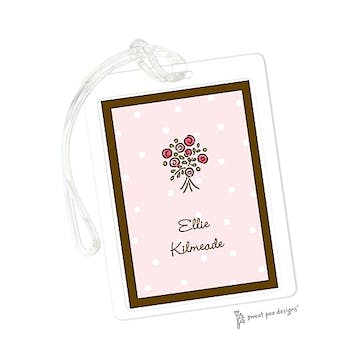 Little Dots Pink & Chocolate ID Tag