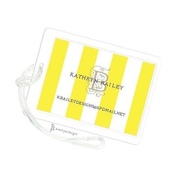Classic Stripes Citrine ID Tag