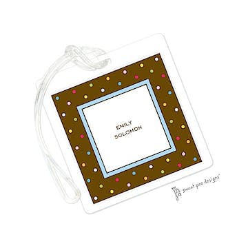 Sprinkle Dots Chocolate ID Tag