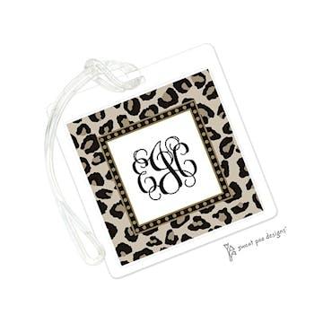 Leopard Latte & Black ID Tag