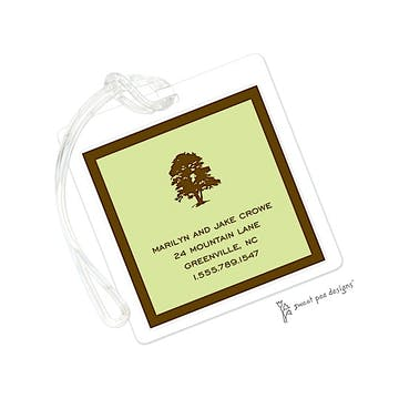 Classic Edge Chocolate On Lime ID Tag