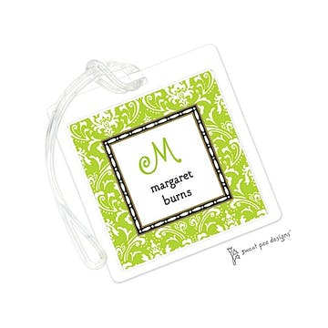 Damask Lime ID Tag