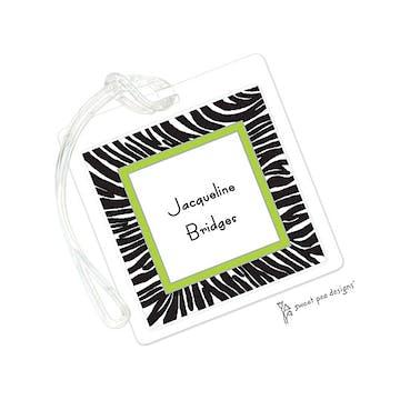 Zebra Black & Lime ID Tag