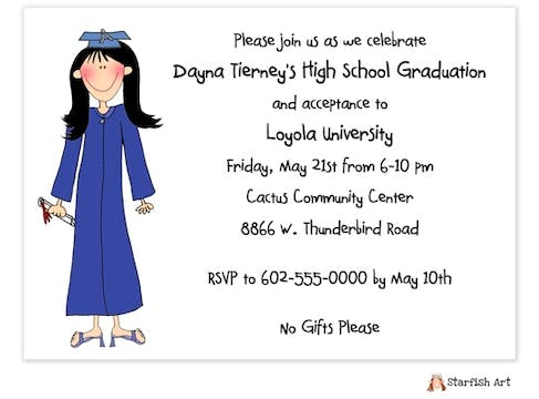 Personalized Character Graduation Invitation
