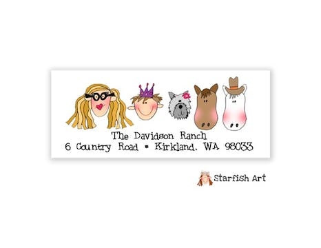 Family Top Address Label