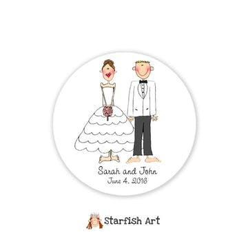 Personalized Character Circle Sticker
