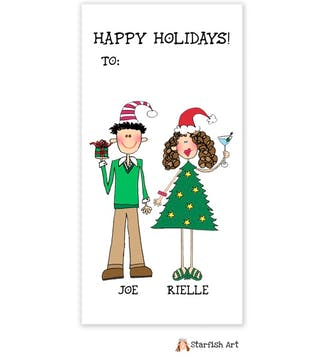 Personalized Character Vertical Gift Sticker