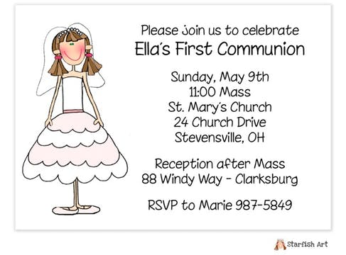 Personalized Character Horizontal Invitation