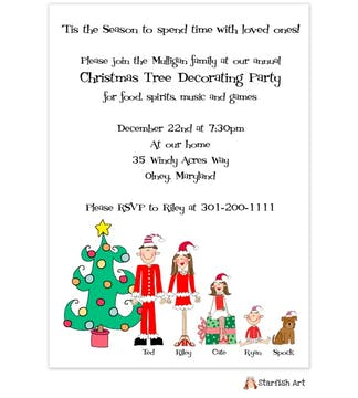 Personalized Character  Holiday Invitation