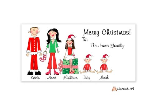 Horizontal Gift Sticker