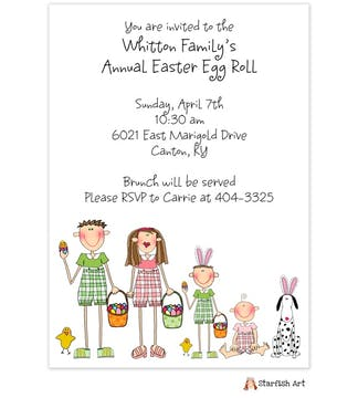 Character Easter Invitation