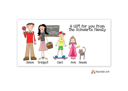 Family Character Gift Sticker
