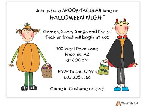 Character Halloween Invitation
