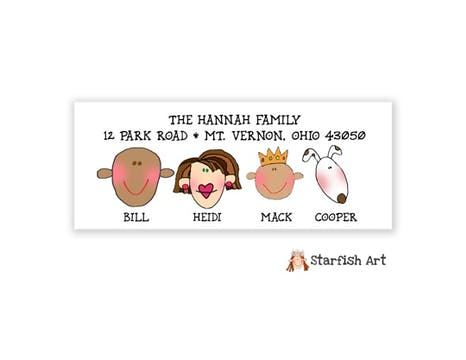 Family Address Label