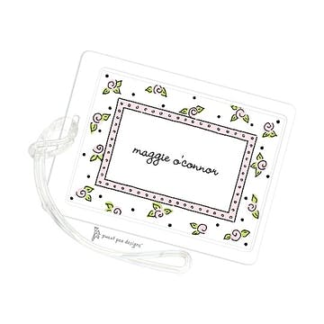 Sweet Roses Pink ID Tag