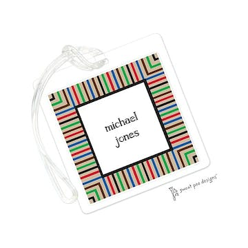 Multi Stripes Chocolate ID Tag