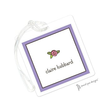 Classic Edge Purple & Chocolate ID Tag