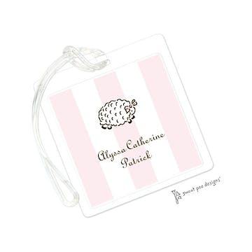 Classic Stripes Pink ID Tag