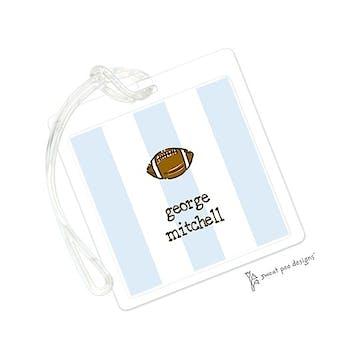 Classic Stripes Blue ID Tag