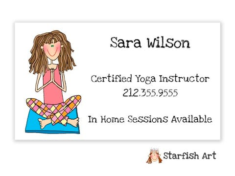Personalized Character Horizontal Calling Card