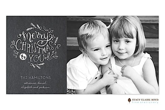 Merry Christmas To You Holiday Flat Photo Card