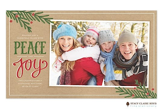 Sketched Sentiments Holiday Flat Photo Card