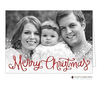 Snowfall Holiday Folded Photo Card
