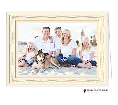Modest Marquee - Cream Holiday Folded Photo Card