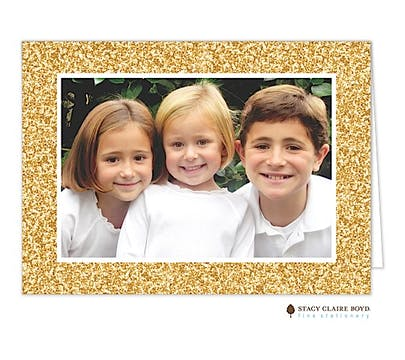 Glitter Season Holiday Folded Photo Card