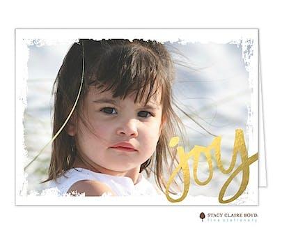 Joy (Faux) Foil Holiday Folded Photo Card