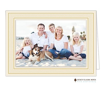 Modest Marquee - Cream Print & Apply Holiday Folded Photo Card