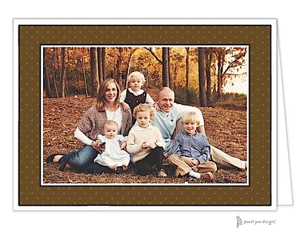 Tiny Dots Chocolate Holiday Folded Photo Card