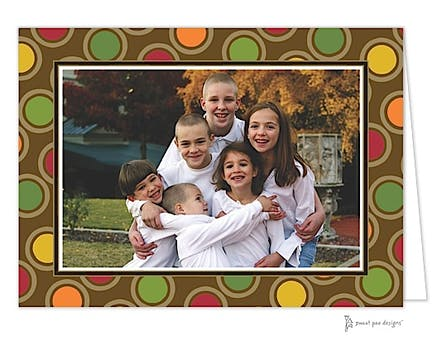 Fun Circles Gold Print & Apply Folded Photo Card