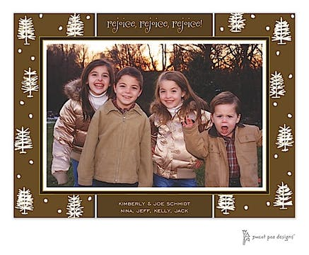 Winter Forest Chocolate Holiday Print & Apply Flat Photo Card