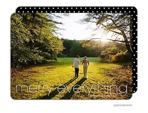 Merry Everything Holiday Flat Photo Card