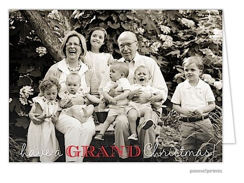A Grand Christmas! Holiday Folded Photo Card