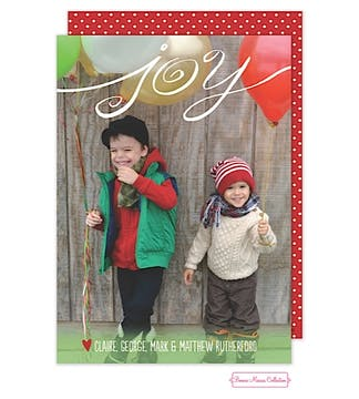 Balloon Joy Flat Photo Card