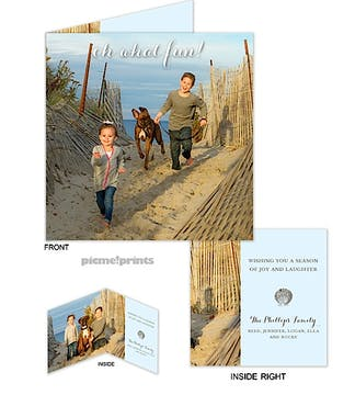 Oh, What Fun! Square Holiday Folded Photo Card