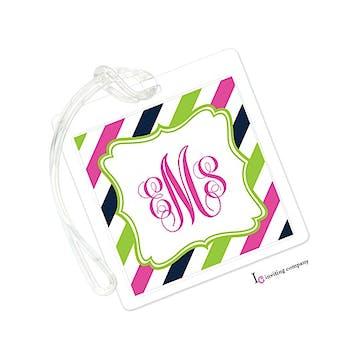 Summer Stripe ID Tag