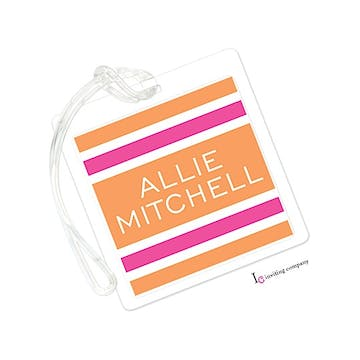 Summer Stripes Orange ID Tag