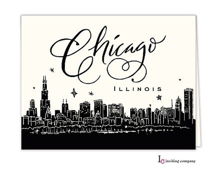 Chicago Skyline Folded Note