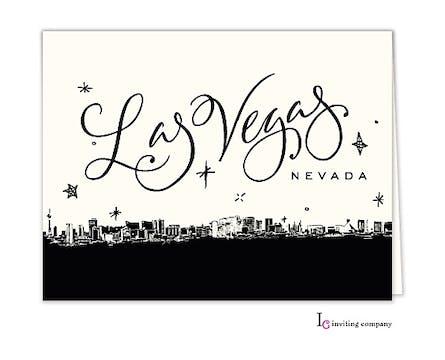 Las Vegas Skyline Folded Note