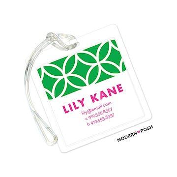 Lattice Posh Green ID Tag