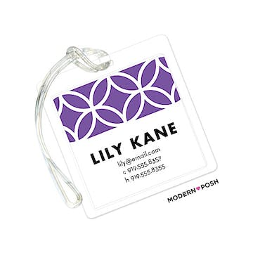 Lattice Posh Lilac ID Tag