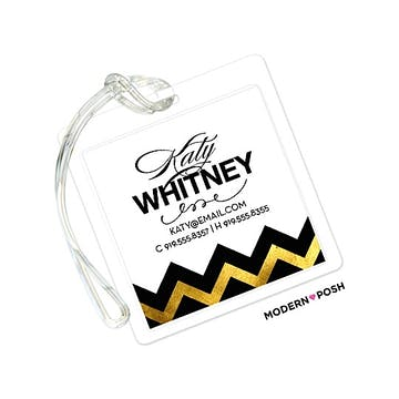 Gold Sophisticated Posh ID Tag