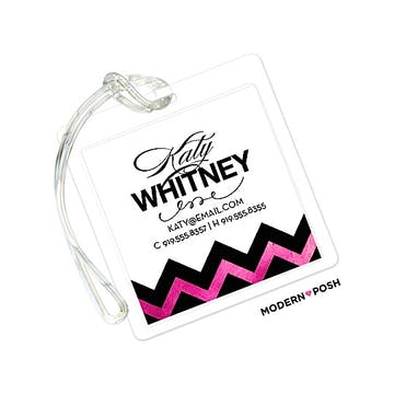 Pink Sophisticated Posh ID Tag