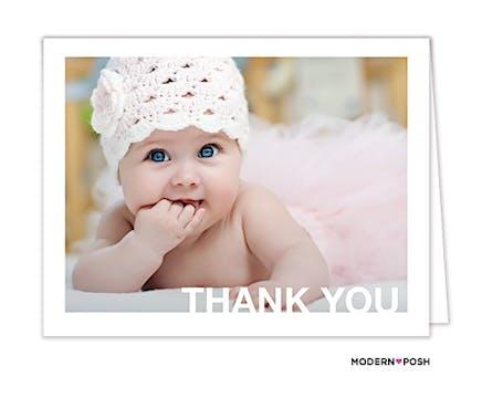 Mod Thank You Digital Photo Folded Note