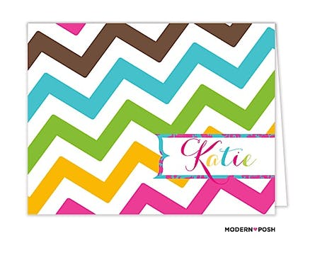 Mod Chevron Posh Folded Note